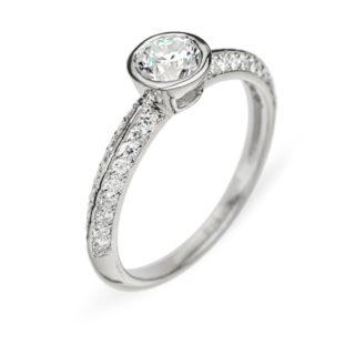 Lysithea колечко з діамантами R0112