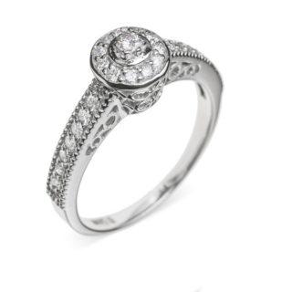 Belinda ажурна каблучка з діамантом R0120