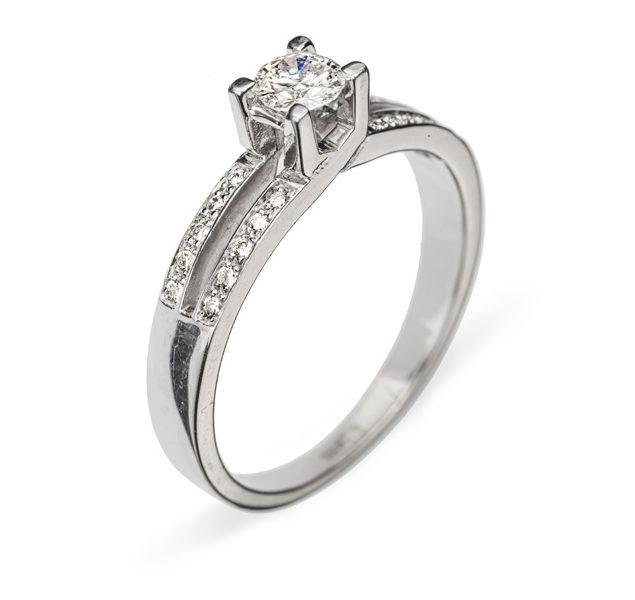 Thyone каблучка з діамантом R0271 - Фото 1