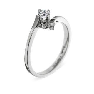 Charlotte ніжна каблучка з діамантом для заручин R0279