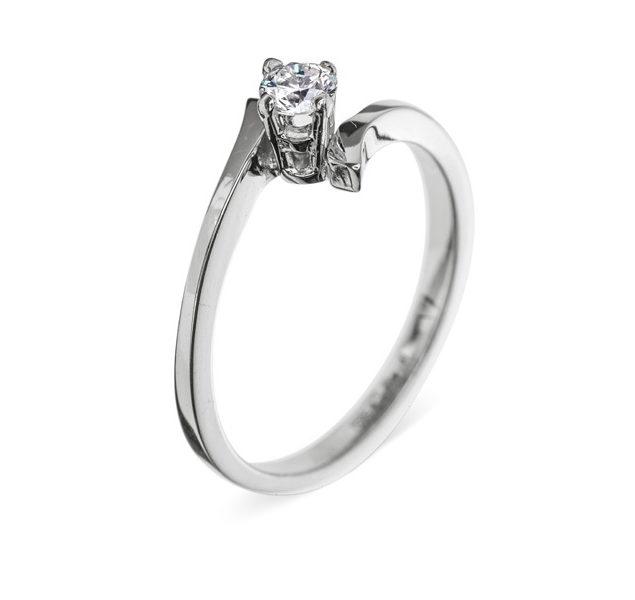 Charlotte ніжна каблучка з діамантом для заручин R0279 - Фото 1