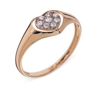 Orion каблучка з жовтого золота з діамантами R0293
