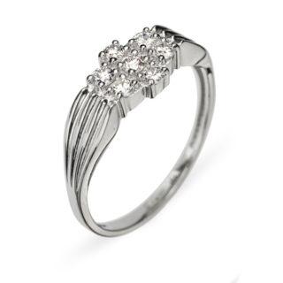 Pavo каблучка з білого золота з діамантами R0302