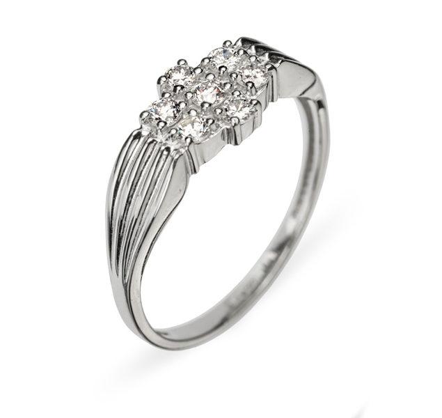 Pavo каблучка з білого золота з діамантами R0302 - Фото 1