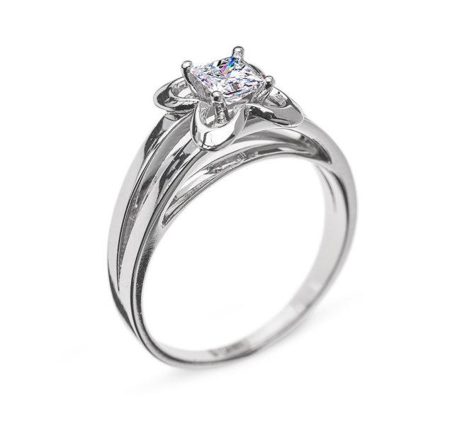 Cursa ніжна каблучка з діамантом R0357 - Фото 1