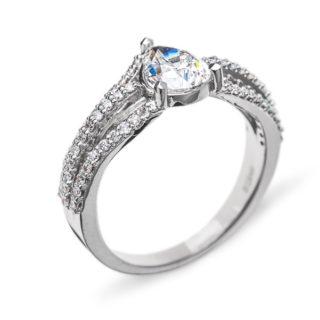 Ophelia каблучка з грушоподібним діамантом R0431
