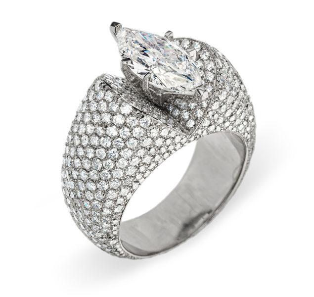 Antheia розкішна каблучка з діамантами R-050 - Фото 1