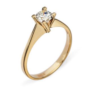 Anne каблучка з жовтого золота з діамантом R0554
