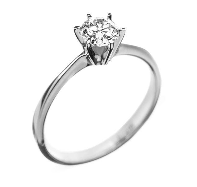 Sofia золота каблучка з діамантом для заручин R0558 - Фото 1