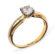 Eleanor класична каблучка з діамантом R0561 - Фото 3