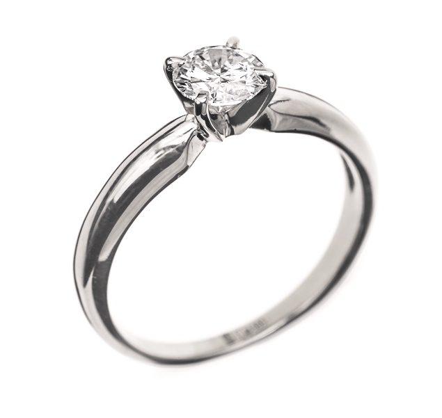 Eleanor класична каблучка з діамантом R0561 - Фото 1