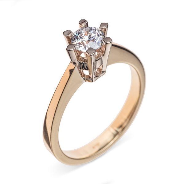 Zenobia каблучка з діамантом R0589 - Фото 1