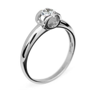 Polaris стильна каблучка з діамантом для заручин R0598