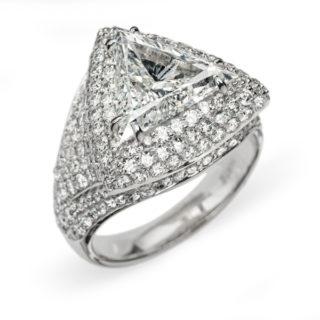 Aura шикарна каблучка з діамантами R0638
