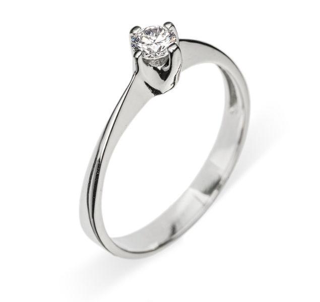 Anastasia золота каблучка з діамантом R0651 - Фото 1