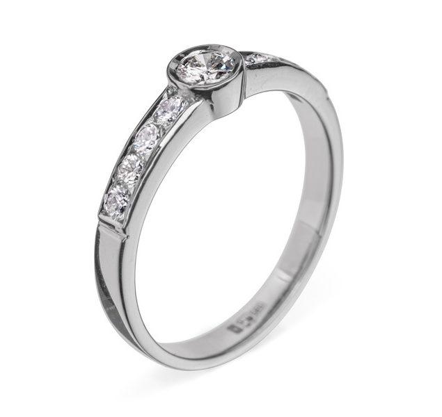Gemma золоте кільце з діамантом R0658 - Фото 1