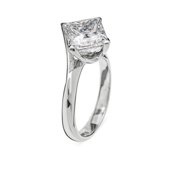 Aphrodite унікальна каблучка з діамантом R0664 - Фото 1