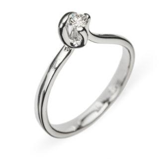 Haya каблучка з білого золота з діамантом R0667