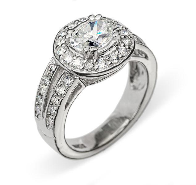 Rosalind унікальна каблучка з діамантом R0691 - Фото 1