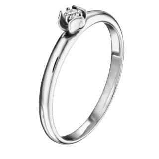 Letizia каблучка з білого золота з діамантом R0693