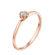 Clotilde каблучка для заручин  з діамантом R0696 - Фото 2