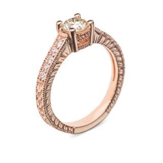 Titania золота каблучка з діамантами R0703