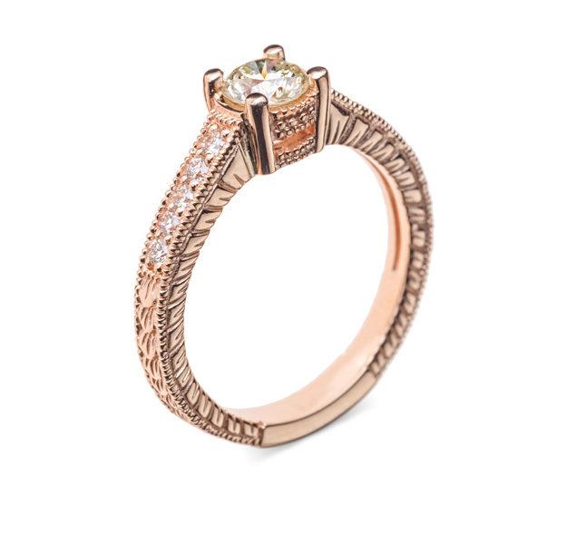 Titania золота каблучка з діамантами R0703 - Фото 1