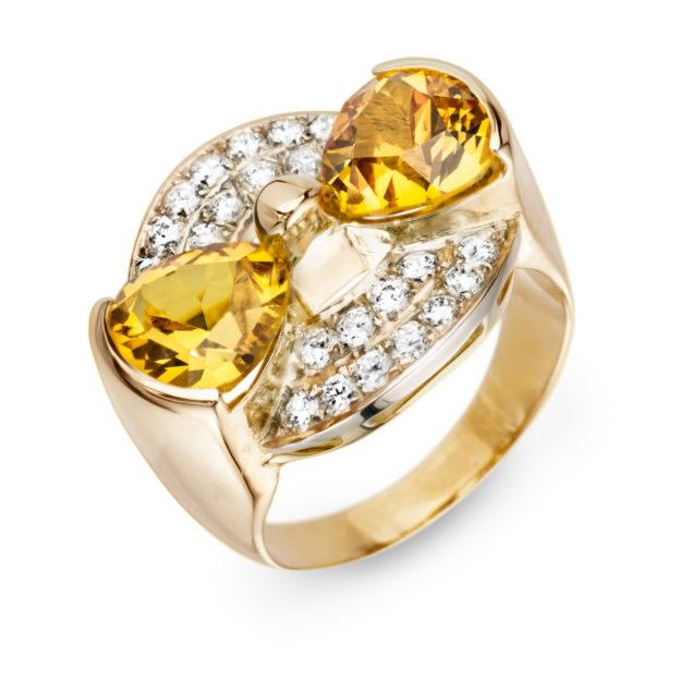Каблучка з діамантами R0860 - Фото 1