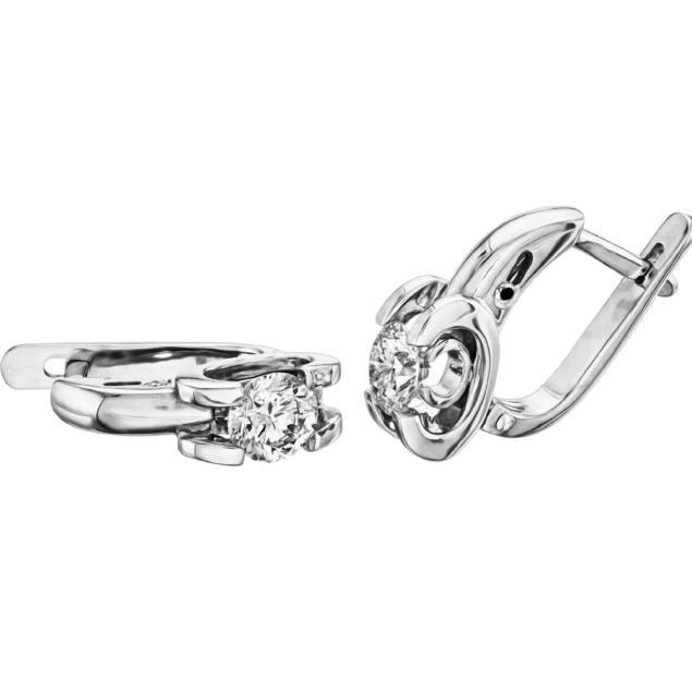 Діамантові сережки E1063-2 - Фото 1