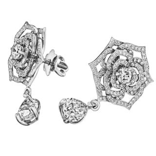 Вечірні діамантові сережки Е1181