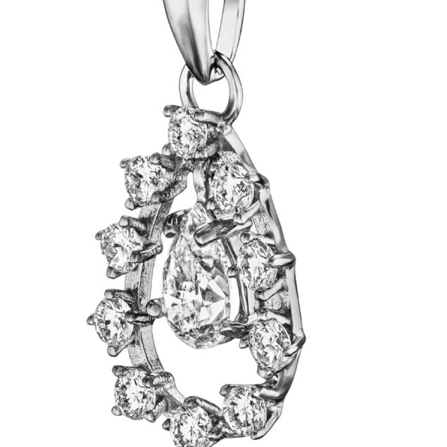 Підвіска з діамантами P0645 - Фото 1