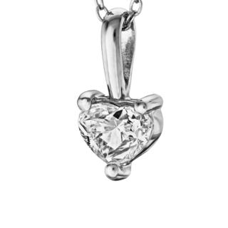Підвіска з діамантом серце P0983