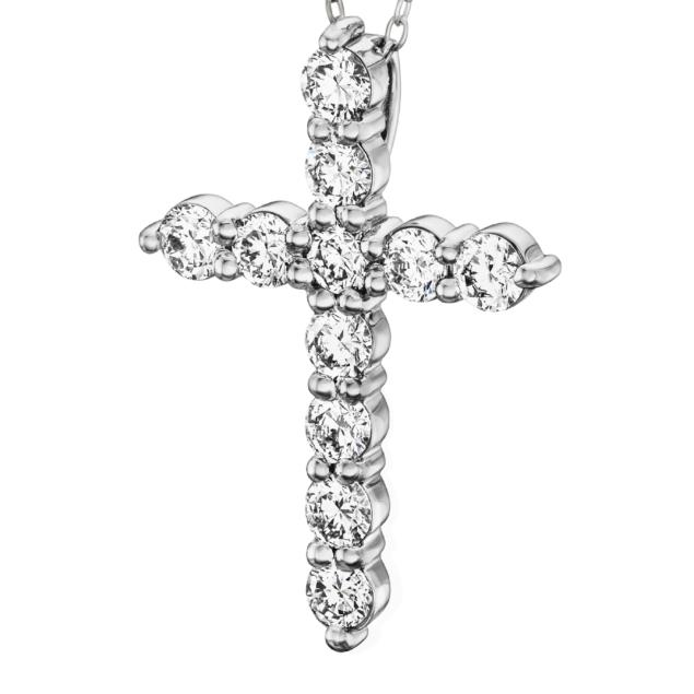 Підвіска діамантовий хрест P1186 - Фото 1