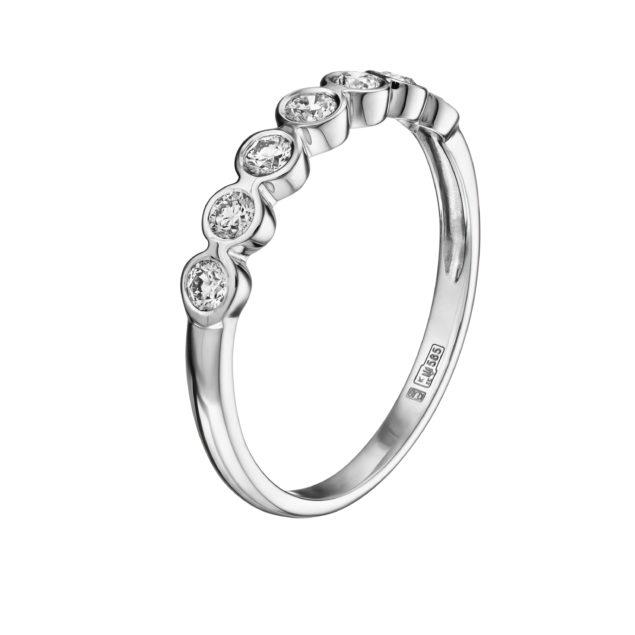 Каблучка з діамантами R0184-1 - Фото 1