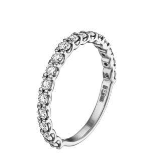 Ніжне колечко з діамантами R0904