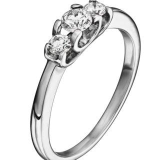 Каблучка з діамантами R0900