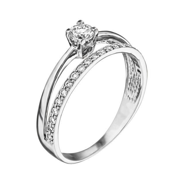 Каблучка з діамантами R0986 - Фото 1