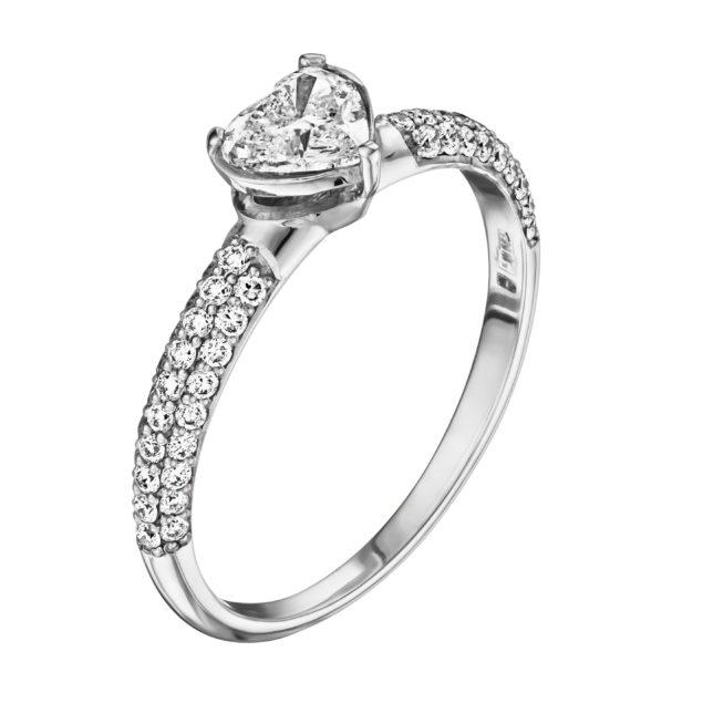 Каблучка з діамантами R1000 - Фото 1