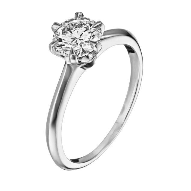Каблучка з діамантом R1001 - Фото 1