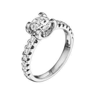 Каблучка з діамантами R1004