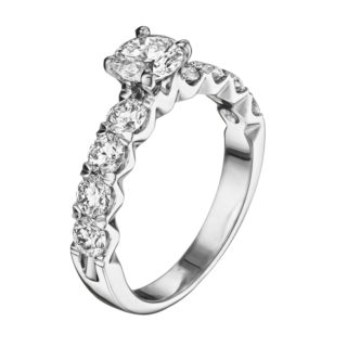 Каблучка з діамантами R1022