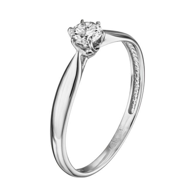 Каблучка з діамантом R1039 - Фото 1
