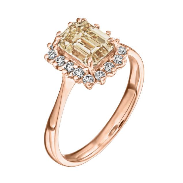 Каблучка з діамантами R1170 - Фото 1