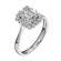 Каблучка з діамантами R1170 - Фото 3