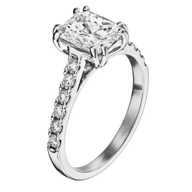 Каблучка з діамантами R1172 - Фото 1