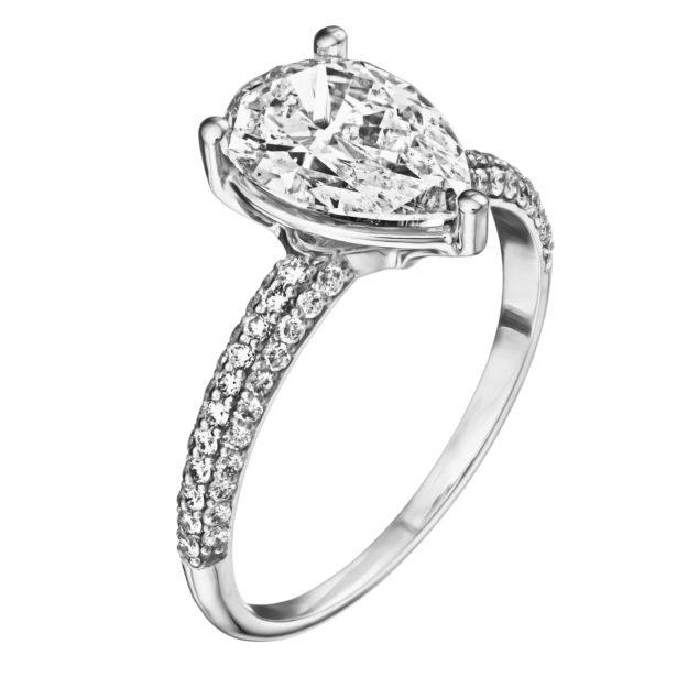 Каблучка з діамантами R1183 - Фото 1