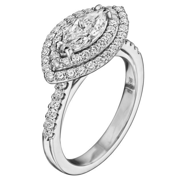 Каблучка з діамантами R1184 - Фото 1