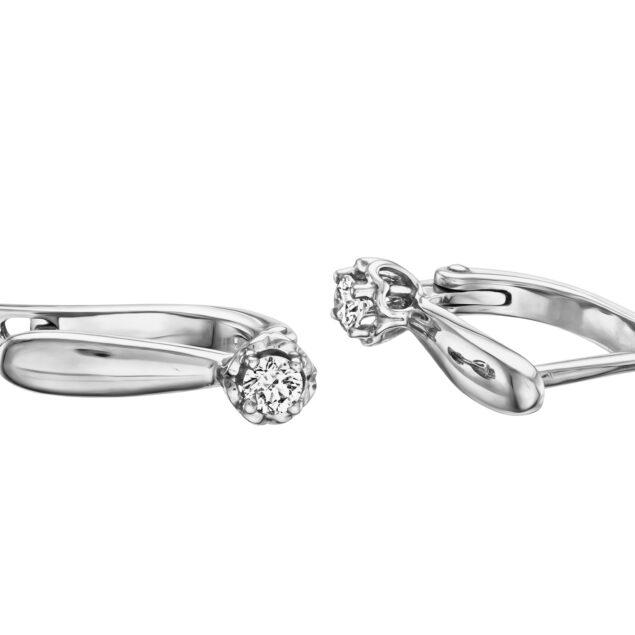 Сережки з діамантами E0694 - Фото 1